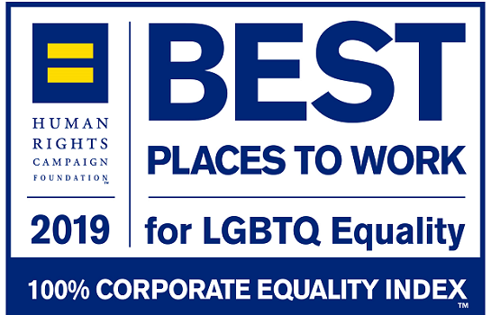 2019 Best Place to work for LGBTQ Equality
